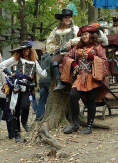 Female Pirate Trio Crop by Dysonstarr, via Flickr