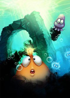 BellyFish - iphone/ipad game by Burç Pulathaneli, via Behance