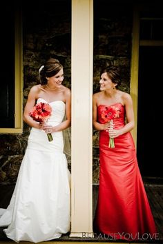 Bride and sister pic