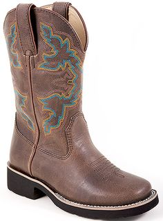 9e728b3c Roper 09-018-1800-0121 - Kid's 8 Inch Western Boots Style Brown