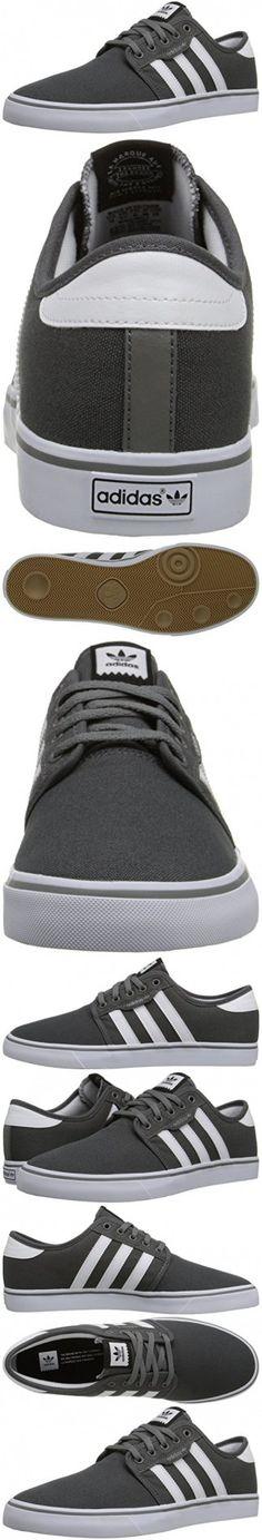 Adidas Originals Men's Seeley Skate Shoe,Ash Grey/White/Black,9.5 M US