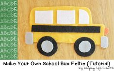Create a School Bus Feltie for a flannel or felt board using a FREE Printable Craft Template School Bus Crafts, Back To School Crafts, School Buses, Printable Crafts, Templates Printable Free, Owl Templates, Applique Templates, Applique Patterns, Free Printables