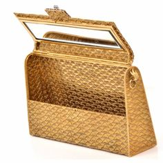 Impressive Diamond Gold Ladies Evening Clutch Bag image 7
