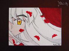 Anime canvas board / Inuyasha canvas / original acrylic painting / fine art