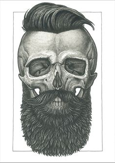 skull with beard tattoos - Yahoo Image Search Results Tattoo Caveira, Et Tattoo, Beard Tattoo, Totenkopf Tattoos, Geniale Tattoos, Skull Design, Skull Tattoos, Skull And Bones, Hair And Beard Styles