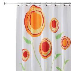 """InterDesign Marigold Shower Curtain - Red/Orange  (72x72"""")"""