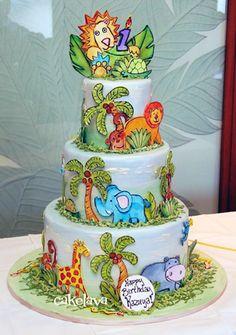 cakelava: jungle theme cake
