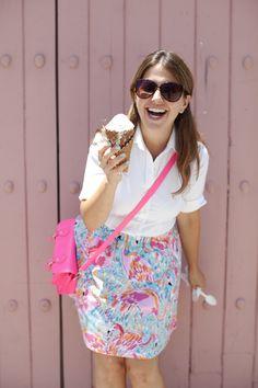 Ice Cream on Las Olas - Fort Lauderdale - @Jackie Segedin @Lilly Pulitzer