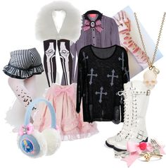 """Winter Pastel Goth"" by steampoweredgoth on Polyvore"
