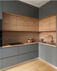 Home Interior Bohemian .Home Interior Bohemian Kitchen Room Design, Kitchen Cabinet Design, Modern Kitchen Design, Home Decor Kitchen, Interior Design Kitchen, Home Kitchens, Kitchen Modular, Modern Kitchen Cabinets, Small Modern Kitchens