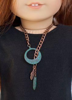 American Girl Doll necklace boho style by EverydayDollwear