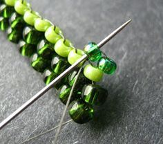 Flat Brick Stitch ~ Seed Bead Tutorial