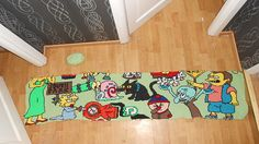 This is going to be a huge blanket from a drawing I made. It's a Simpsons crossover with South Park, Spongebob Squarepants and Danny Phantom, four of the favorite cartoons of Tessa  Th...