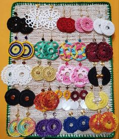 Crochet Jewelry Patterns, Crochet Earrings Pattern, Crochet Accessories, Crochet Designs, Crochet Necklace, Crochet Stitches For Beginners, Rope Crafts, Crochet Baby Clothes, Weaving Patterns