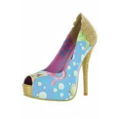 Lollipop Lorelei Peep Toe Platform ❤ Light Blue - Shoes
