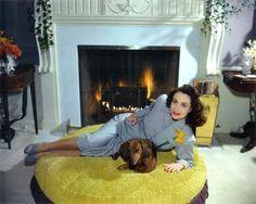 Joan Crawford at home.