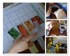 Keeping a journal of planting...get them started early; they are going to need to know how to keep a garden before long