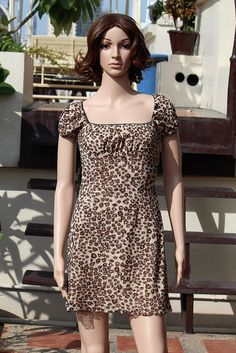 Vintage leopard Design Broad Neck Back Zipper Long Women Dress   $13.00 USD Only 1 available  https://www.etsy.com/listing/188191102/vintage-leopard-design-broad-neck-back?ref=shop_home_active_2  https://www.facebook.com/pages/Savvy-Ladies/796694807024977
