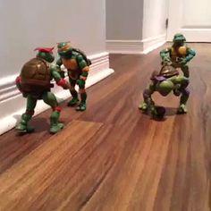 the Turtles play football (gif)