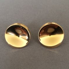 Gallery 925 - Georg Jensen Earring No. 1136 18K Gold by Nanna Ditzel, Handmade Sterling Silver, 1960's