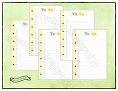 Refill per i tuoi To do  Set composto da 6 refill To Do  I 6 fogli sono stampati fronte retro, su carta da 100 gr  Il formato A5 e quello personal