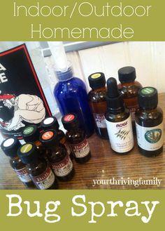 Bug Spray with essential oils