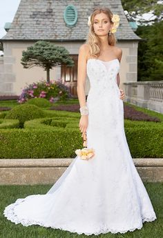 Strapless Tulle Lace Wedding Dress from Camille La Vie and Group USA