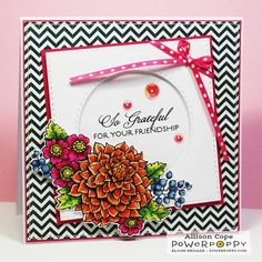 So Grateful Stamp Set | Power Poppy by Marcella Hawley