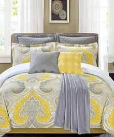 Another great find on #zulily! Yellow Fall River Eight-Piece Bedding Set by CHD Textiles #zulilyfinds