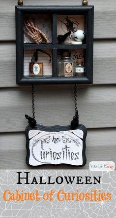 Halloween Cabinet of Curiosities 3D Sign