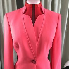 Perfect coral blazer One button, fully lined.  Worn once. Kasper Jackets & Coats Blazers