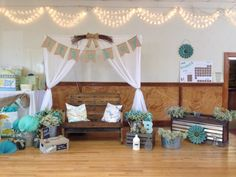 Baby shower rustic theme Baby shower backdrop