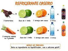Como fazer um #refrigerante #caseiro. Saiba como fazer mais coisas em http://www.comofazer.org