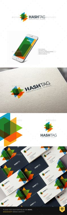 Hashtag Logo Design — Photoshop PSD #studio #isometric • Available here → https://graphicriver.net/item/hashtag-logo-design/17808578?ref=pxcr