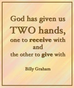 Anything from Billy Graham is golden.