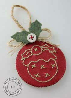 Christmas Ornament Felt and Embroidery