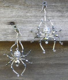 Beaded Spider Earrings by hensandchicks1 on Etsy, $15.00