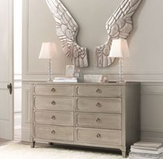 Pewter Angel Wings | Wall Décor | Restoration Hardware Baby & Child. Baby Pi Phi.