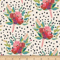 """Floral Fabric """"West End Gathers"""" from Bloomsbury by Bari J for Art Gallery Fabrics - premium cotton - Art Gallery Fabrics, How To Make Tshirts, Blooming Flowers, Floral Fabric, Blue Fabric, Fabric Art, Fabric Design, Floral Prints, West End"""