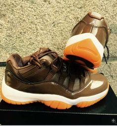 premium selection 5b92d 263d3 Air Jordan 11 Mens Store Sale - Newest Nike Air Jordan 11 Chocolate White  Orange