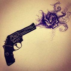 ❤guns and Roses ❤ Rose Tattoos, Flower Tattoos, Body Art Tattoos, New Tattoos, Sleeve Tattoos, Tatoos, Tatto Ink, Tatoo Henna, Tattoo Sketches
