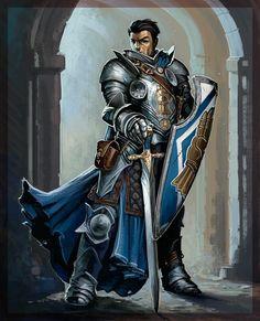 m Fighter Plate Armor Cloak Shield Sword urban city 22366343_10212217200638589_1744445287759134333_n.jpg (607×750)