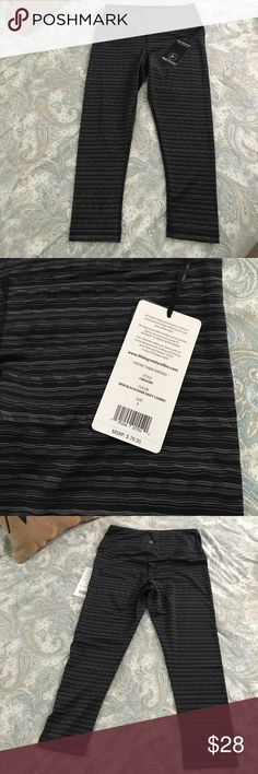New High Waisted 90 Degree Workout Capris New with tags! 90 Degree by Reflex workout Capri. Black/dark navy combo color.  Size large. 90 Degree By Reflex Pants