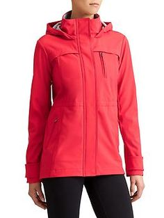 Drizzle Jacket in Red Delicious $168 (water-resistant)   Athleta