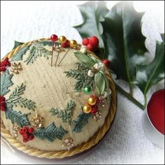 pincushion; gorgeous handwork.