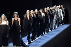 Classic: The models for Vera Wang's Spring/Summer 2017 show wore combinations of…