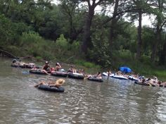 Floating the Guadalupe River in Texas
