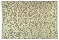 6'x9' Suzanne Kasler Jaguar Rug, Sky on OneKingsLane.com Hand-knotted in Nepal, this cut-pile rug designed by Suzanne Kasler features a solid wool ground artfully accented with an animalistic pattern. It can take on a masculine or feminine feeling and will work with virtually any deco