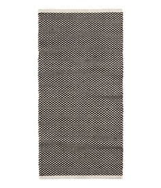 Jacquard-weave Cotton Rug | White/charcoal gray | H&M HOME | H&M US