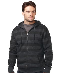 Full Zip Hooded Jacket 40% Polyester/60% Cotton with all over tonal print. Tri mountain F678 #Hooded #Jacket #Polyester